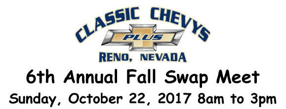 Sunday, October 22: Classic Chevys Plus 6th Annual Swap Meet